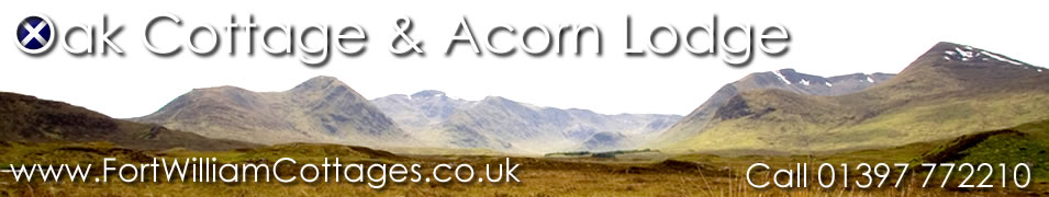 Fort William Cottages - Self catering accommodation in Fort William Scotland.
